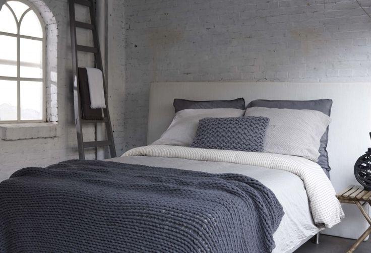 Afbeeldingsresultaat voor grof gebreide deken