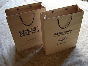 Brown Kraft Rope Handle Paper Carrier Bags