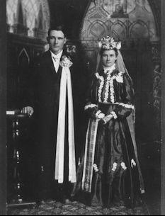 Hertel  wedding photo....customs of the Volga Germans