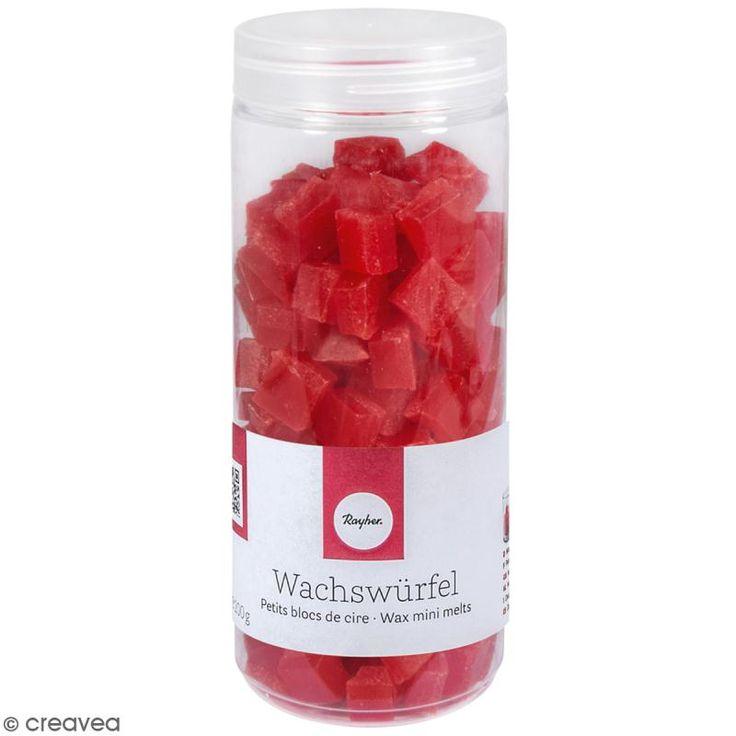 Compra nuestros productos a precios mini Pequeños bloques de cera para vela - Rojo - 200 g - Entrega rápida, gratuita a partir de 89 € !