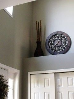 Ledge decor ideas-Above the door would be beautiful-but make sure the items are VERY secure!