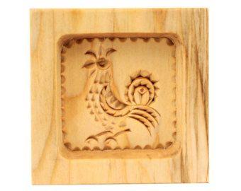 COCKEREL - 7. Wooden presses mold for pressed spice-cakes / pryaniks / cookies / springerle cookies ART 101-002- 0012-15 - Edit Listing - Etsy