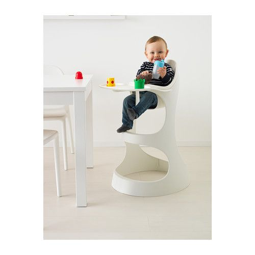 LEOPARD Highchair with tray - white - IKEA