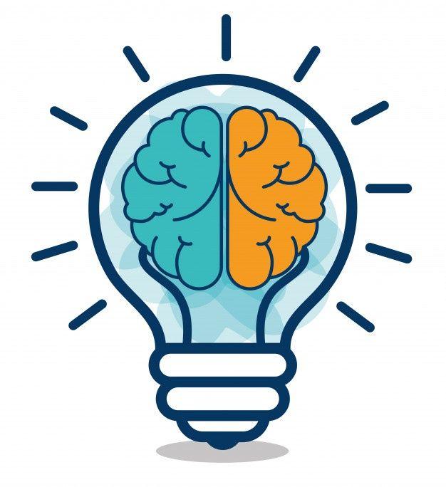 Download Cartoon brain idea creative design | Premium Vector # ...
