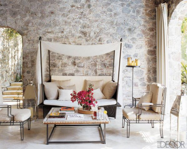 Designing With Stone - Natural Elements In Design - ELLE DECOR