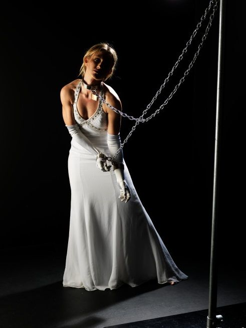 Can evening gown bondage