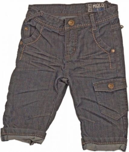 Alexander blue denim lang shorts fra Molo