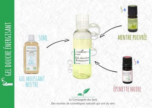 Gel douche naturel énergisant aux huiles essentielles pour un réveil tonique et vivifiant