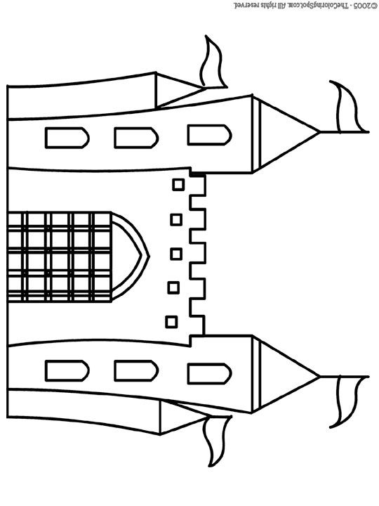 Castle 1 | Free printable coloring pages for kids | Coloring pictures | Colouring printables from The Coloring Spot