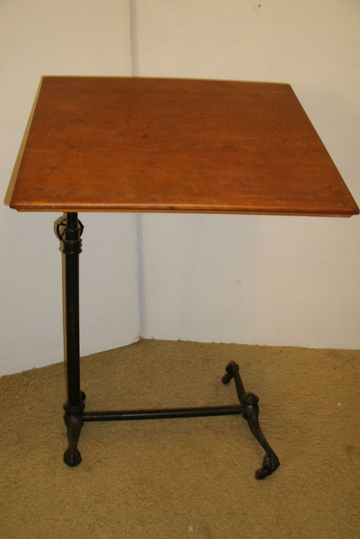 Cast iron legs  Victorian Drafting Table