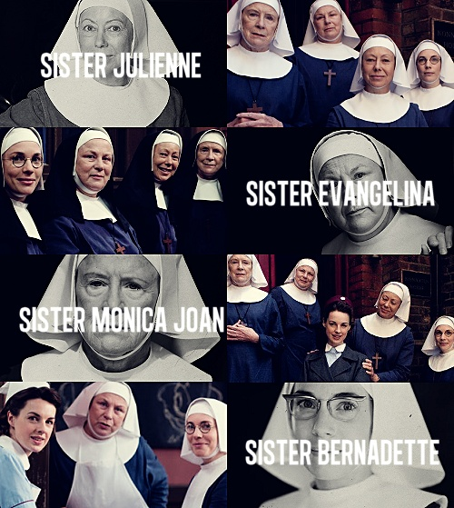 """THE NUNS OF NONNATUS HOUSE """"But to go her whole life without so much as a kiss!"""" """"You are speaking to a nun, Trixie."""" 