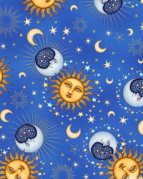 Dan Morris - Celestial Sol - Heavenly Orbs - Quilt Fabrics from www.eQuilter.com
