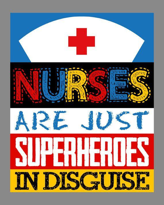 Nurse Gift. Nurses are Superheroes. Nurse by LittleLifeDesigns