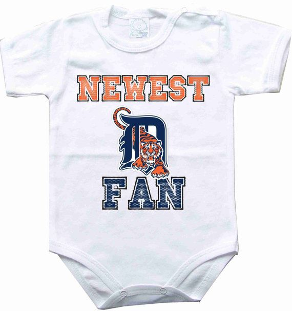 Baby bodysuit Newest fan Detroit Tigers baseball MLB One Piece Bodysuit Funny Baby Child boy girlen's Clothing Kid's Shower boy on Etsy, $10.98