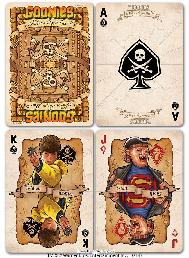 Bicycle trading cards based on the classic 1985 film, The Goonies!