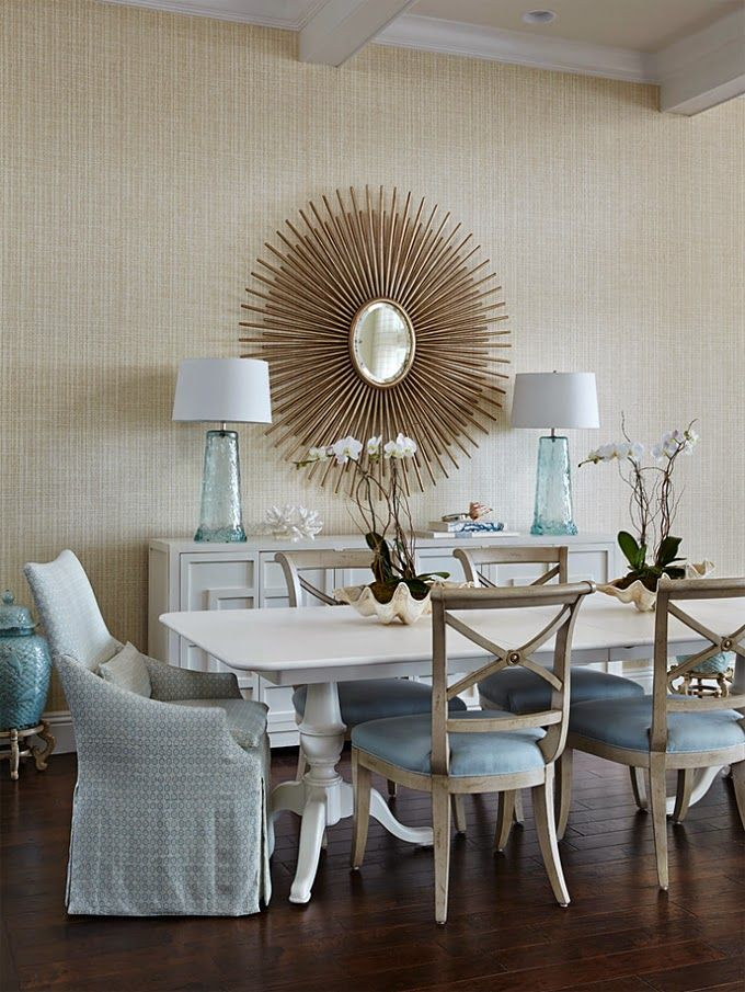 Find Coastal Dining Room Design Ideas For Your Beach Style Home With White Furniture And Nautical Decor Featuring Shell Lighting Slipcover