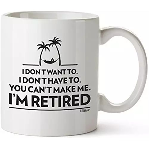 Funny Retirement Gifts Gag for Women Men Dad Mom Valentines Day Husband Wife Boyfriend Humorous Retirement Coffee Mug Gift Retired Mugs for Coworkers Office & Family Unique Novelty Ideas for Her