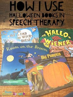 How I use Halloween books in speech therapy.