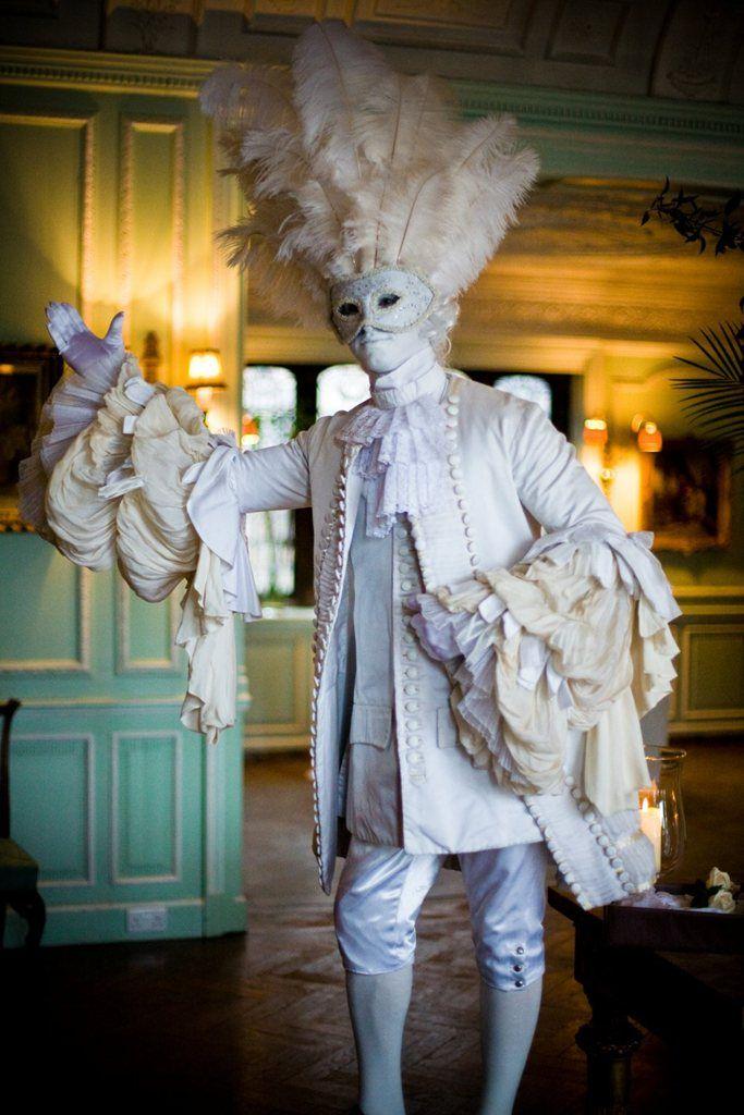 Gravity Human Statue- Venetian Masked Entertainment
