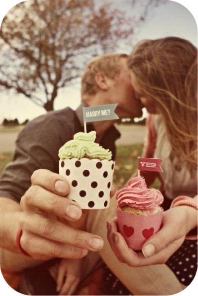 Mensaje en cupcakes...
