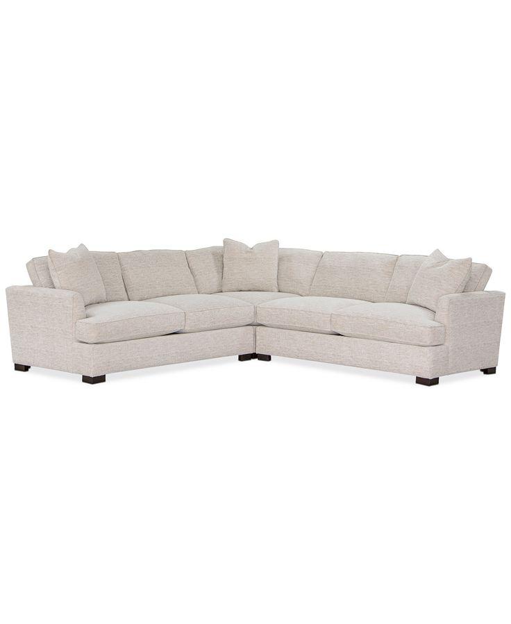 Furniture juliam 3pc fabric in 2020 fabric sectional