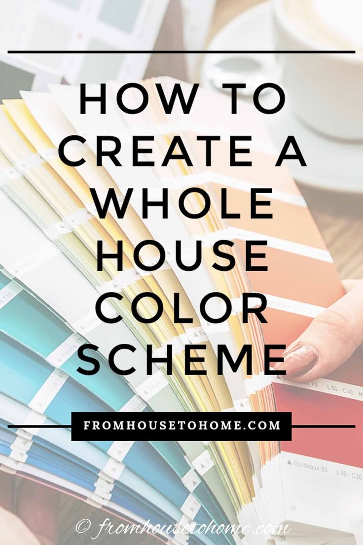 I love these ideas for choosing a whole house color scheme. They make picking a …