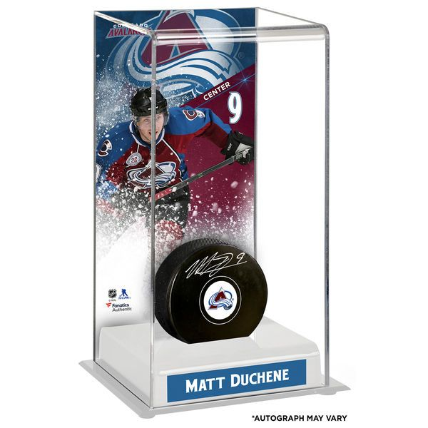 Matt Duchene Colorado Avalanche Fanatics Authentic Autographed Puck with Deluxe Tall Hockey Puck Case - $114.99