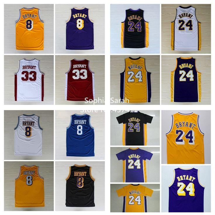 2013 New Fashion #24 Kobe Bryant black white yellow purple REV black gold Rev 30 Brand Basketball jersey Embroidery logos