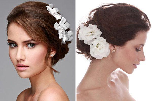 Depois do post com 10 vestidos para casamento no campo, faltavam as opções de penteados! Casamentos campestres combinam comelementos da natureza... flores
