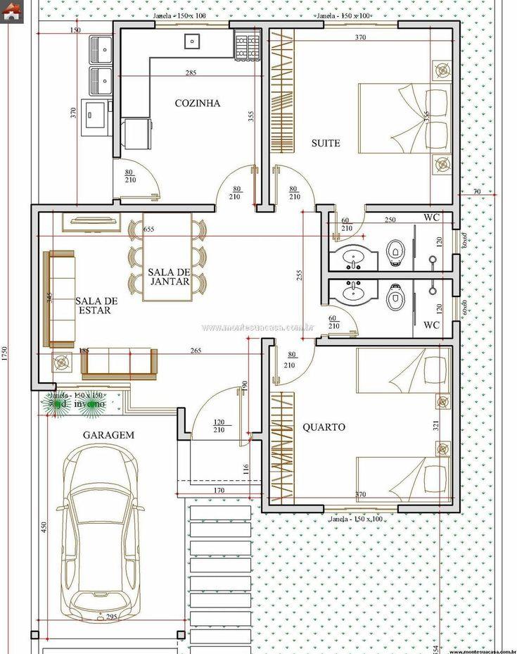 Projeto De Casa Com 1 Quarto