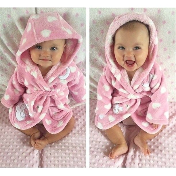 I have a robe just like this minus the hood...love it, but don't look this adorable in it!