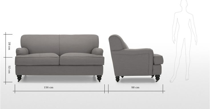 Orson 2 seater sofa, Graphite Grey | made.com