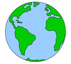 Cartoon Earth drawing
