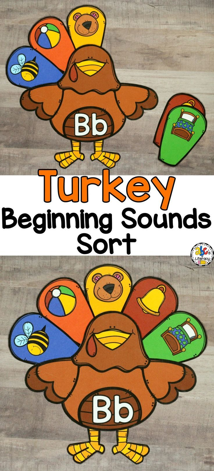 Your students are going to LOVE sorting and matching the beginning sounds to the letter and creating a feathered turkey. This Turkey Beginning Sounds Sort is an engaging and hands-on Thanksgiving themed activity- perfect for literacy centers, morning tubs, or early finishers. Click on the picture to learn more about this activity!