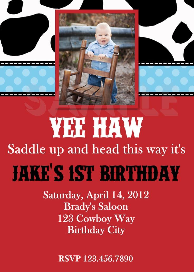 first birthday invitation template india%0A Items similar to Western Birthday Invitation Cowboy Birthday Invitation  Printable Boys or Girls on Etsy