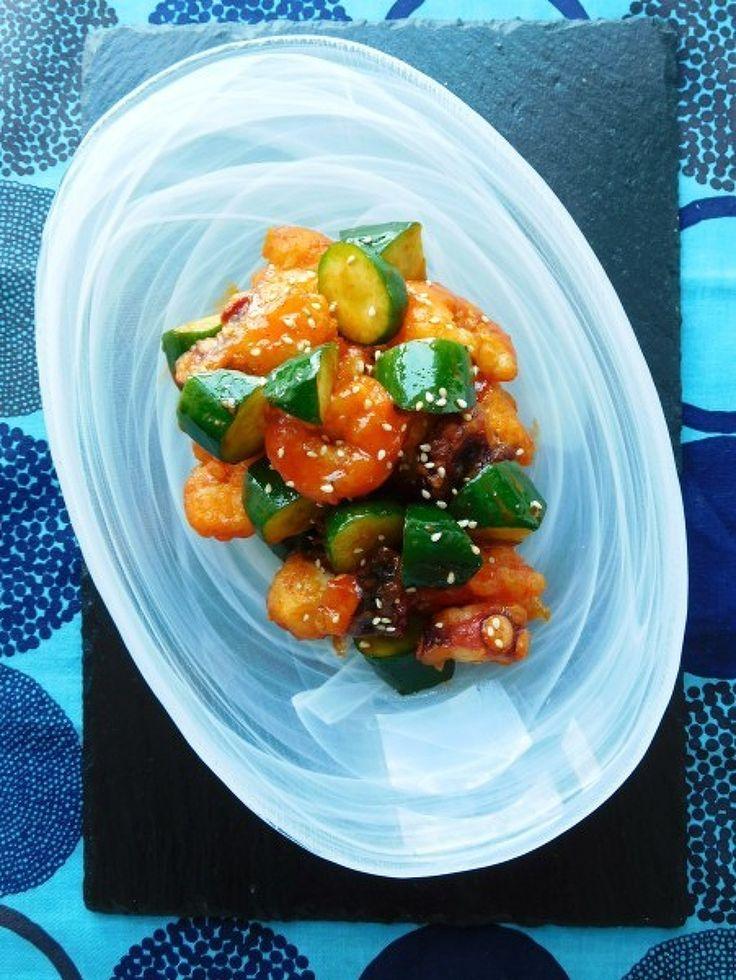 ピリリと辛いエビ タコ きゅうりの豆板醤和え by 優子 | レシピサイト「Nadia | ナディア」プロの料理を無料で検索