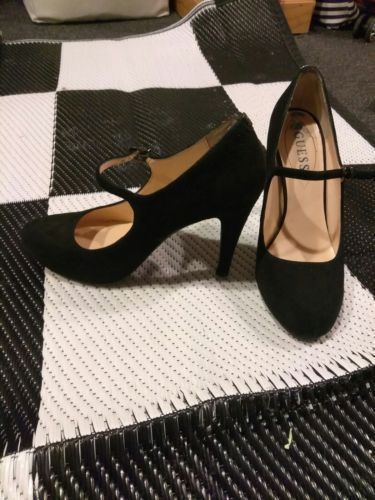 af9349ca2f3 women s guess black suede size 7.5 high heels pumps shoes   WomensNarrowShoes