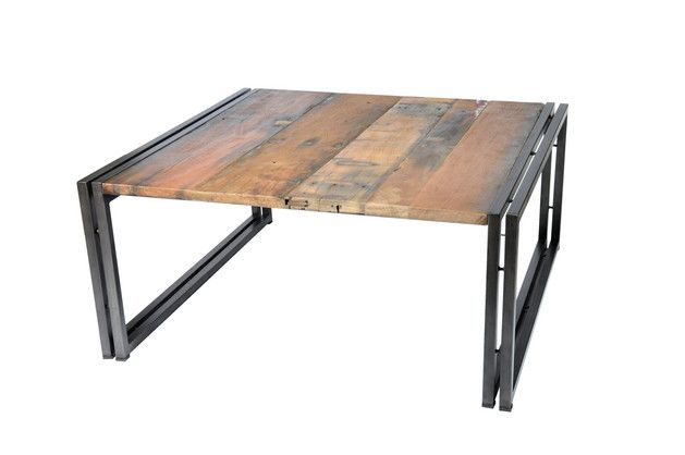 Earth de Fleur Homewares - Recycled Industrial Coffee Table 'EDITO' 60CM