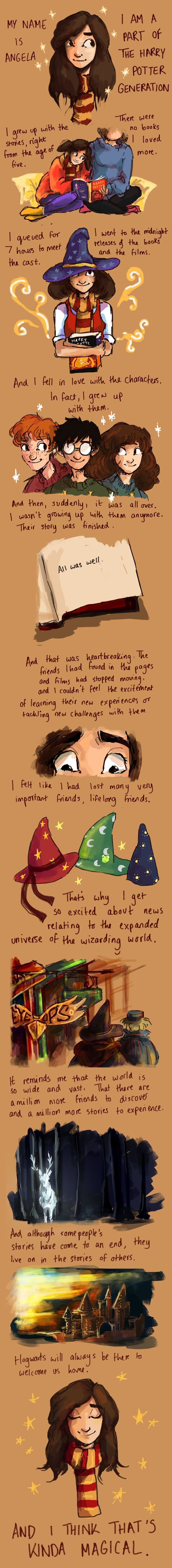 """What It's Like Being A Part Of The """"Harry Potter"""" Generation.its so true, except dat my name is not angela :-p (sorry for my bad humor)"""