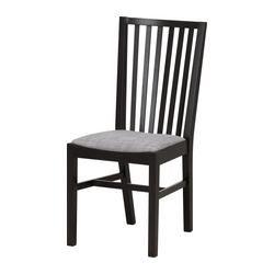 "NORRNÄS Chair - black/Isunda gray - IKEA $79.99 Width: 16 1/2 "" Depth: 20 7/8 "" Height: 37 "" Seat width: 16 1/2 "" Seat depth: 15 3/4 "" Seat height: 18 1/8 """