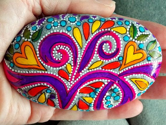 Follow Your Bliss / Painted Rock / Sandi Pike by LoveFromCapeCod, $55.00