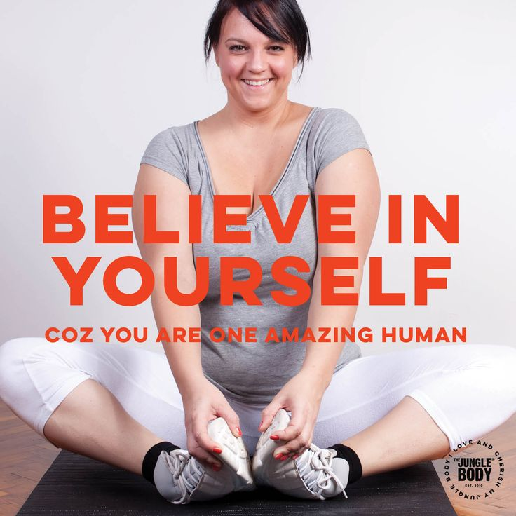 Believe in Yourself - Quote for group fitness and dance cardio