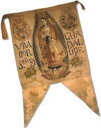 El estandarte de la Virgen de Guadalupe que esgrimió Miguel Hidalgo en el Grito de Dolores, es el primer símbolo de unión del pueblo mexicano.