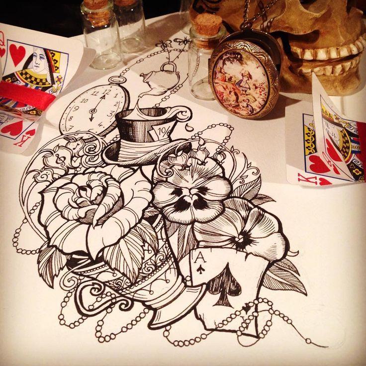 Alice Perrin Google Search: Neo Traditional Tattoo Alice In Wonderland