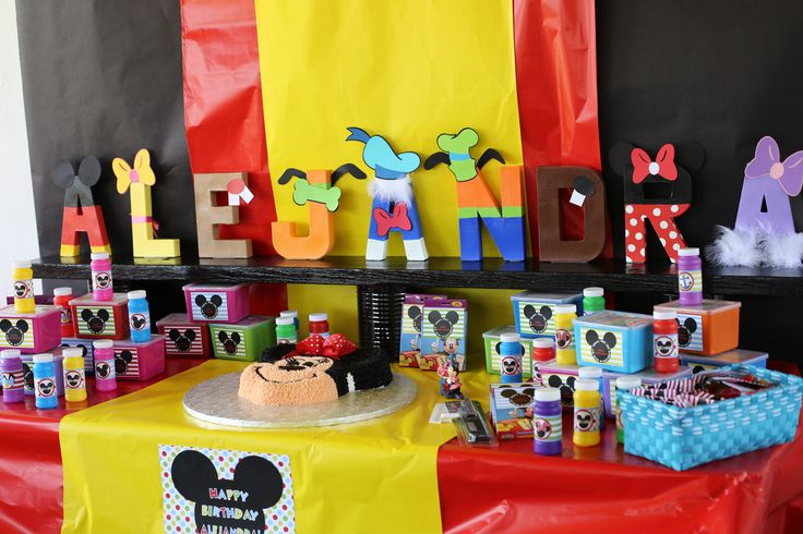dessert table idea mickey mouse clubhouse birthday party