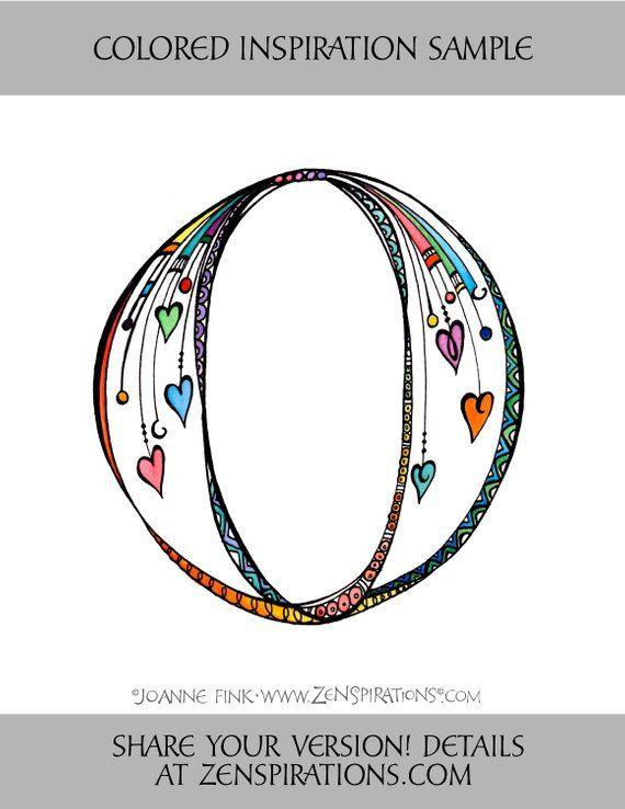 Zenspirations By Joanne Fink Letter O Instant Digital Download