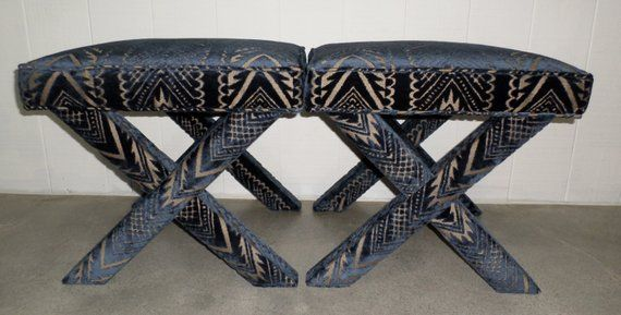 X Benches Custom Design Your Own With Any Fabric Etsy X Bench Design Beautiful Furniture