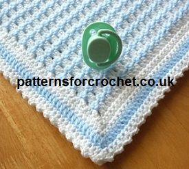 Baby Blanket free crochet pattern from http://www.patternsforcrochet.co.uk/crib-blanket-usa.html #crochet