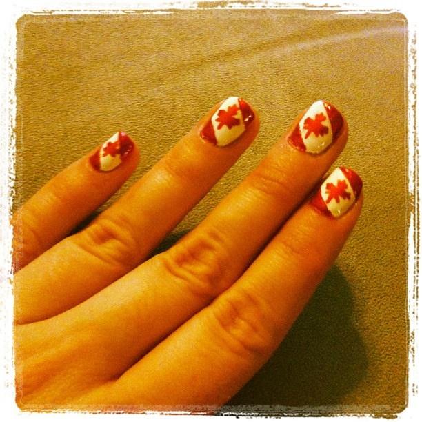 Canada nails version 2.0... Happy Canada day!!!