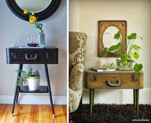 7 maneras de decorar con maletas recicladas | Decorar tu casa es facilisimo.com
